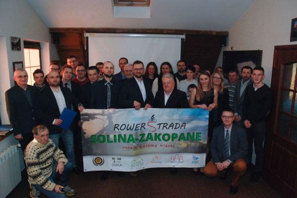 Podpisanie porozumienia o współpracy na rzecz budowy Rowerstrady Solina-Zakopane